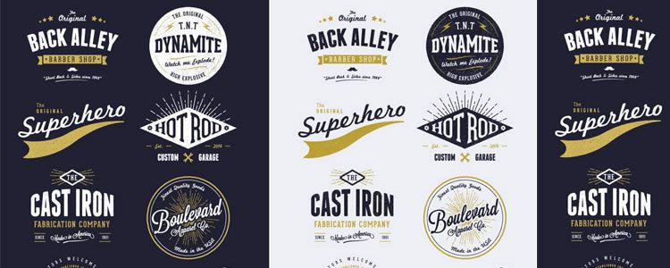 8 Customizable Vector Vintage Style Logo Designs