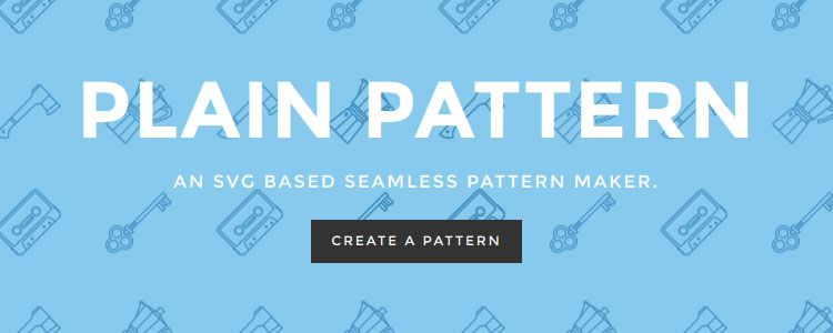 Plain Pattern - An SVG Based Seamless Pattern Maker