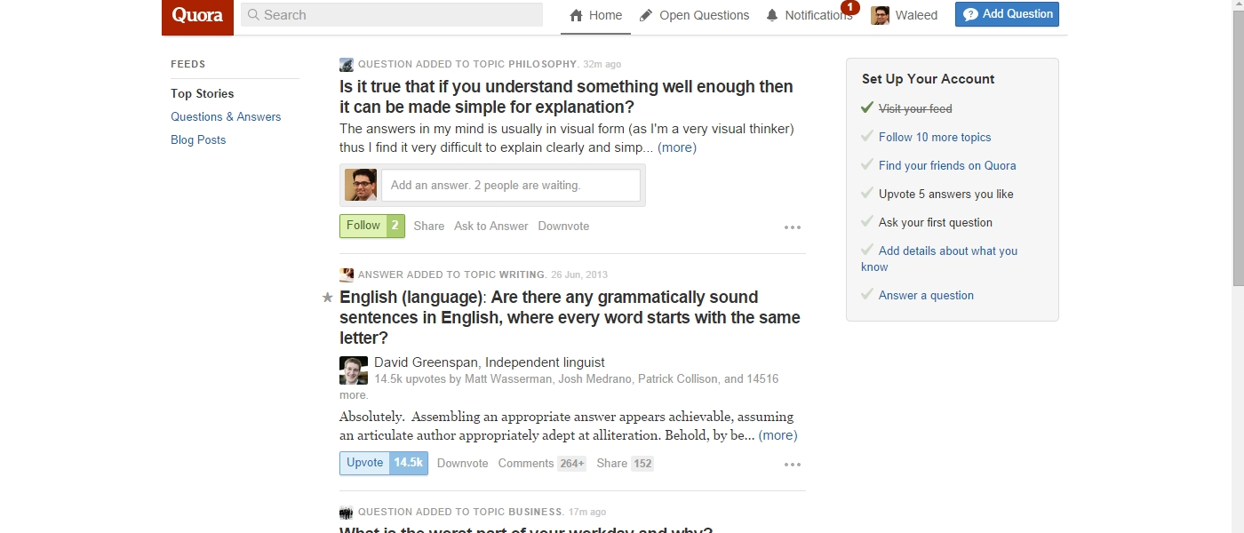 Quora and LinkedIn Next Steps