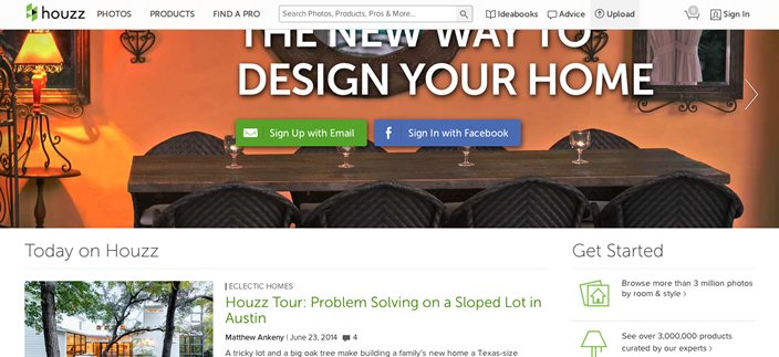 Sticky Fixed Navigation Houzz