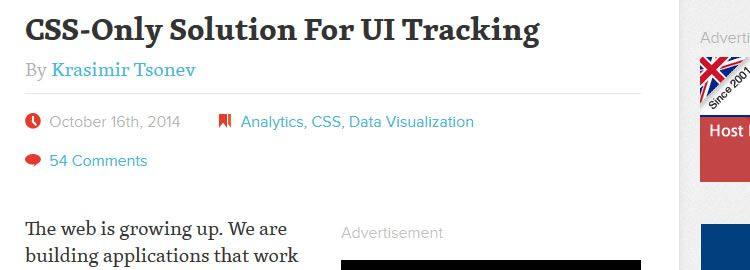 CSS-Only Solution For UI Tracking by Krasimir Tsonev