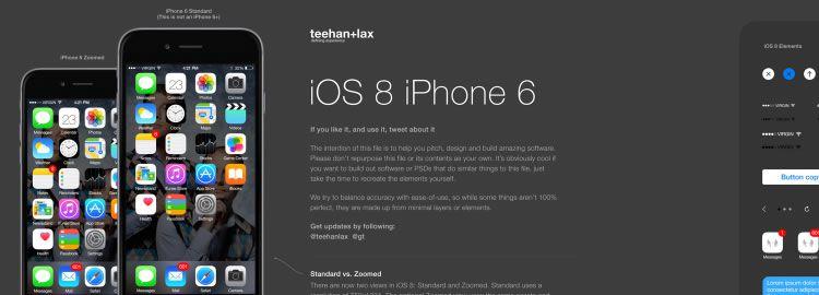 Freebie: iOS 8 GUI PSD by Teehan+Lax