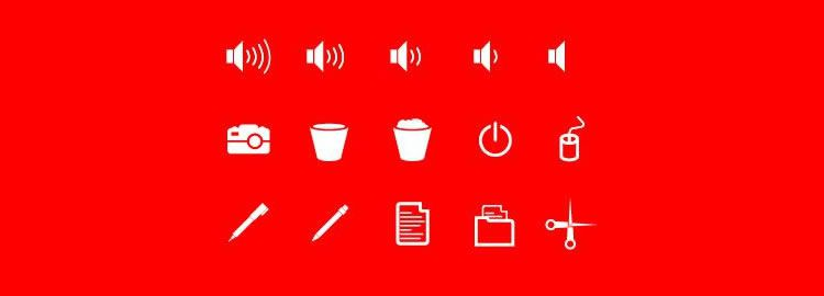 Freebie: 40 Flat & Solid User Interface Icons