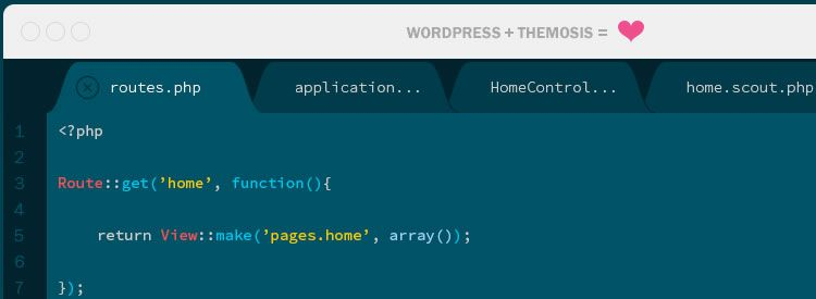 Themosis - A new framework for WordPress developers with elegant and simple code syntax