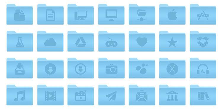 Freebie: 46 OSX Yosemite Folders Icons