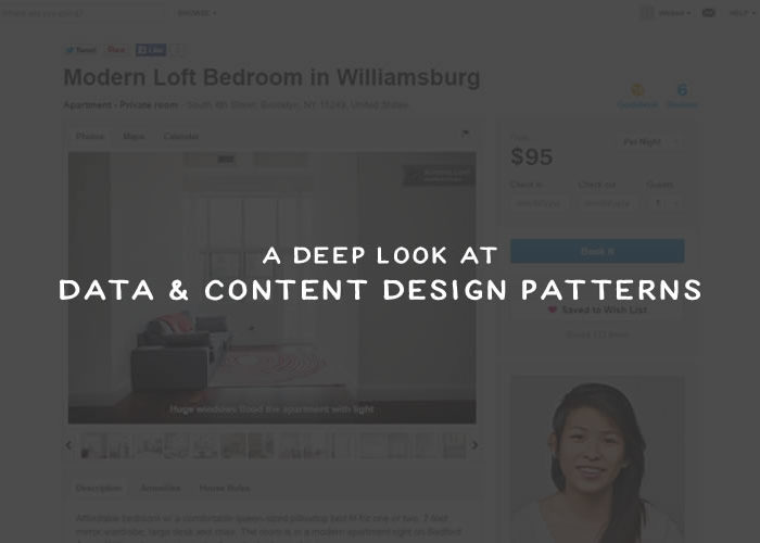 A Deep Look at Data & Content Design Patterns
