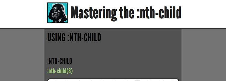 Mastering the :nth-child, CSS3 pseudo classes and :nth-child ranges