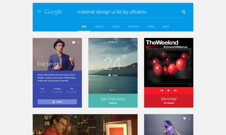 Material Design UI Kit by UltraLinx