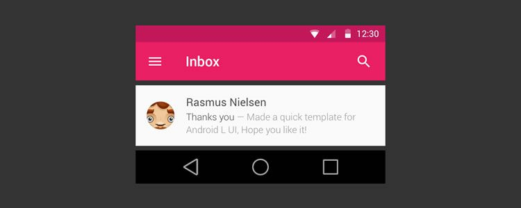 Android L Kit by Rasmus Nielsen