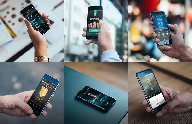 Photorealistic iPhone 6 Mockups Cobe free template PSD