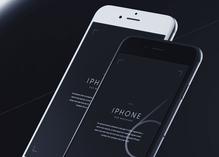 iPhone 6 Mockups free template PSD