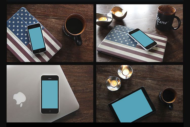 iPhone Mockup Collection free template PSD