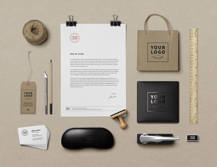 Branding & Identity Mockup Vol9 GraphicBurger free template PSD