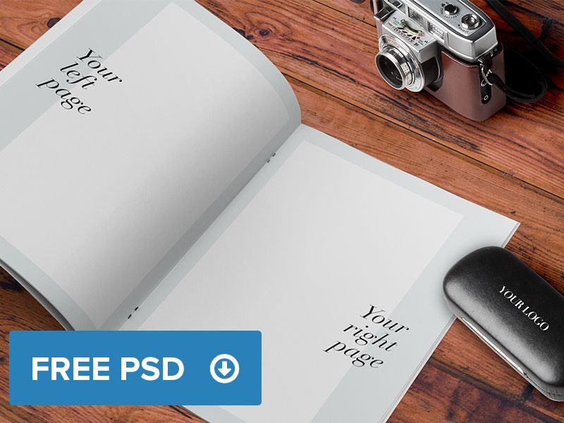 Catalogue Brochure Magazine A4 Mockup free template PSD