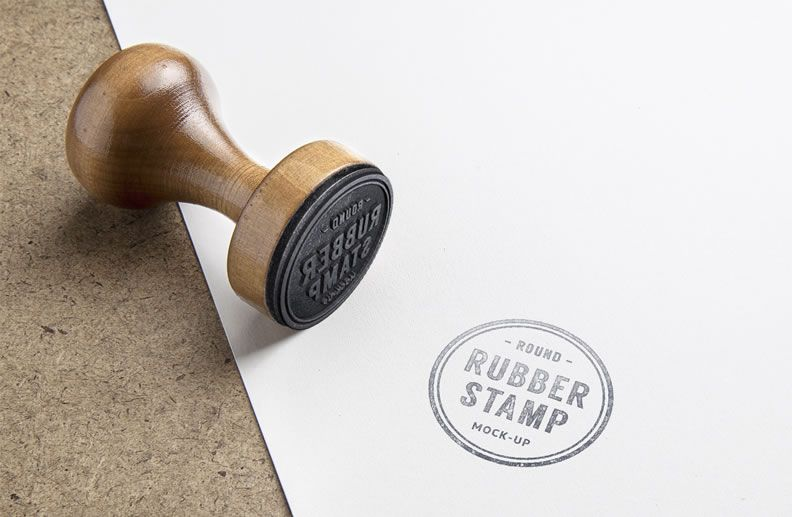 Rubber Stamp Mockup free template PSD