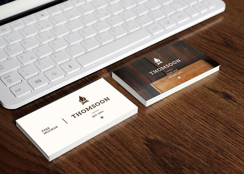Business Card Mockups Tomasz Mazurczak free template PSD