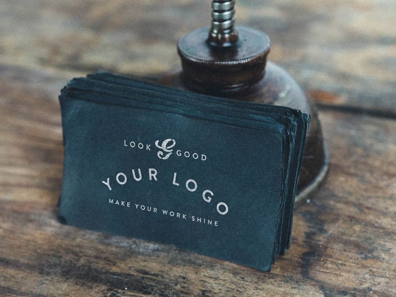 Handcrafted Business Card Mockup Dustin Lee free template PSD