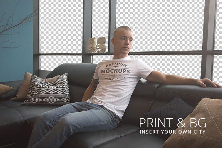 T-Shirt Mockup free template PSD