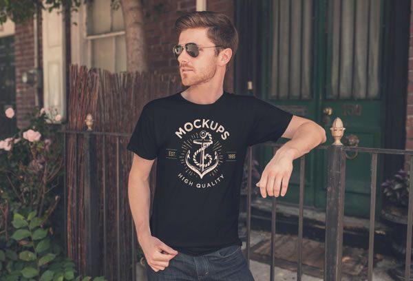 Men's T-Shirt Mockup ZedProMedia free template PSD