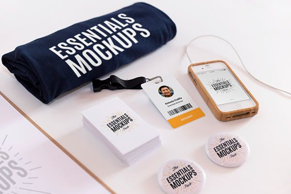 Essentials Mockup Set Antonio Padilla free template PSD