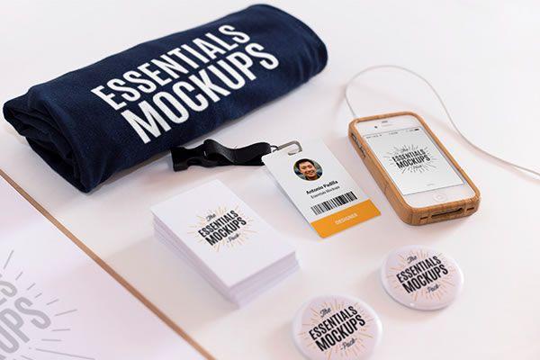 Essentials Mockup Set Antonio Padilla free template PSD