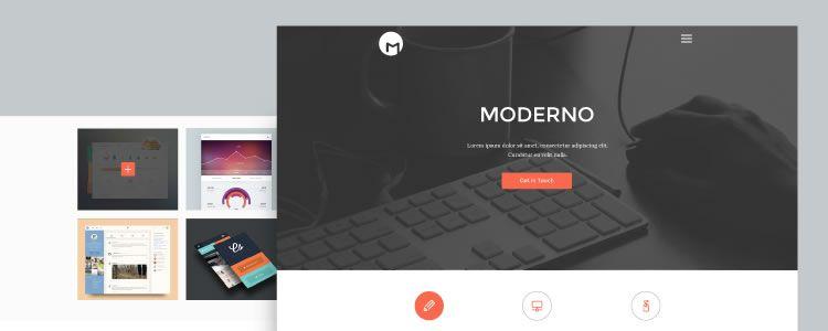 Moderno Creative Simple Portfolio Page