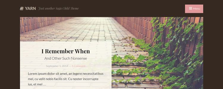 Yarn WordPress Theme