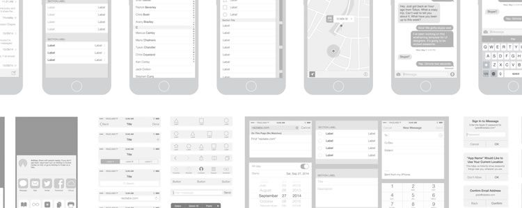 iPhone 6 Vector Wireframing Toolkit