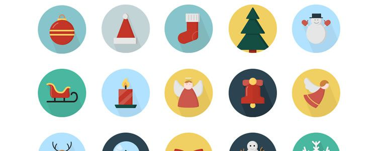 Christmas Vector Icons for iOS8, iOS7 & Android