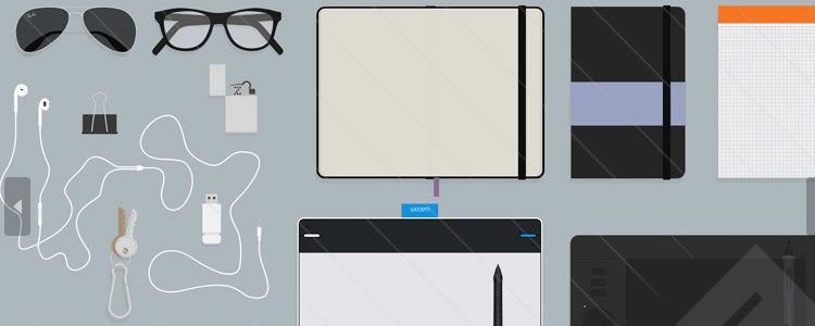 Flat Designer Essentials Hero Header Kit