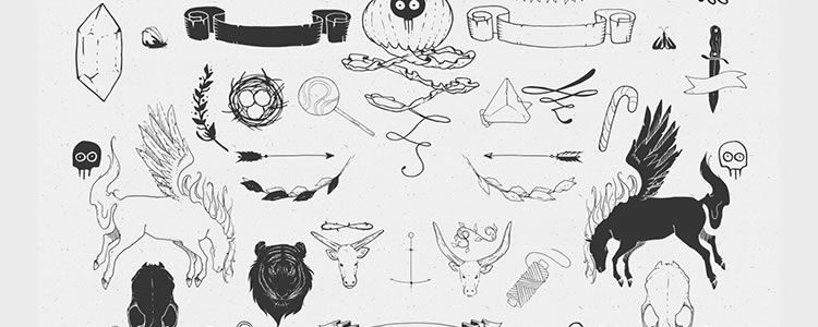 Sable Vector Hand Drawn Elements