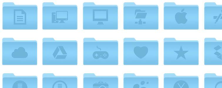 OSX Yosemite Folders Icons