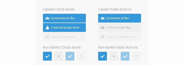 Labelauty - A nice and lightweight jQuery plugin that gives beauty to checkboxes and radio buttons
