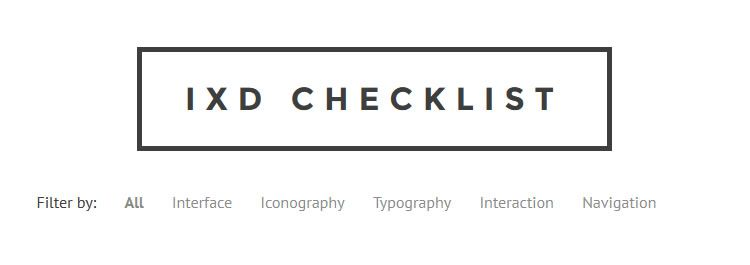 IxD - An interaction design checklist