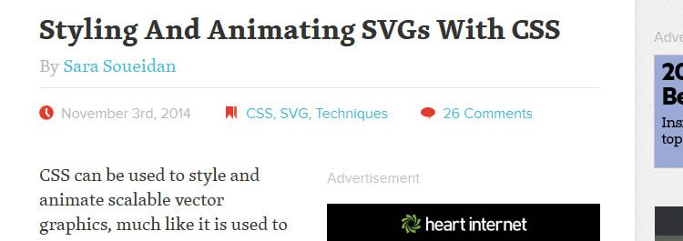 Styling And Animating SVGs With CSS by Sara Soueidan
