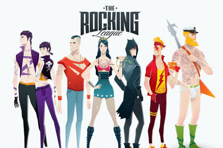 Super Rockers – An Illustration Series of Rockstar Superheros