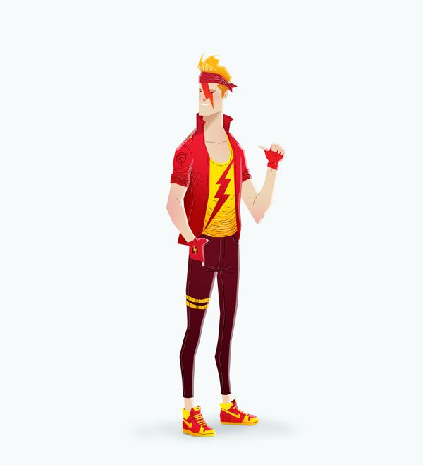 super rockers illustration The Flash