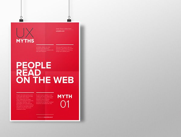 Myth 1: People read on the web