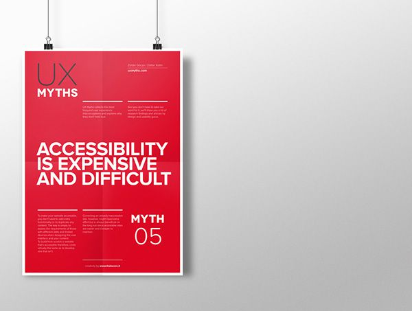 yth 5: Accessibility is expensive and difficult