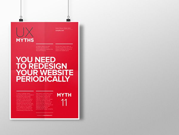 Myth 11: You need to redesign your website periodically