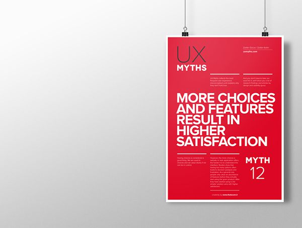 Myth 12: More choices and features result in higher satisfaction