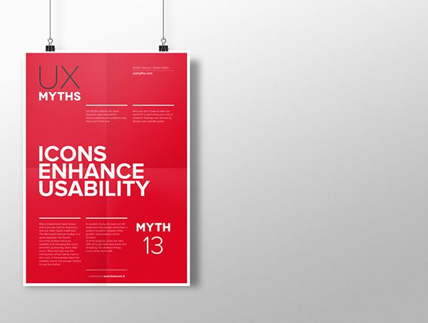 Myth 13: Icons enhance usability