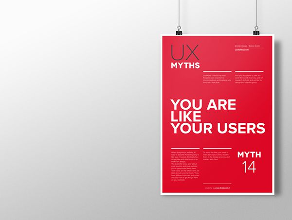 Myth 14: You are like your users