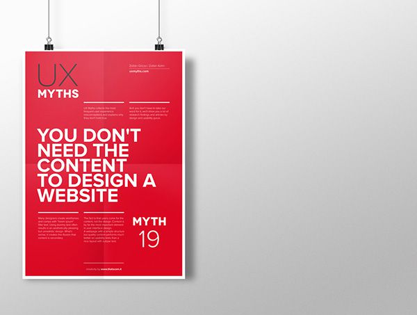 Myth 19: You don't need the content to design a website