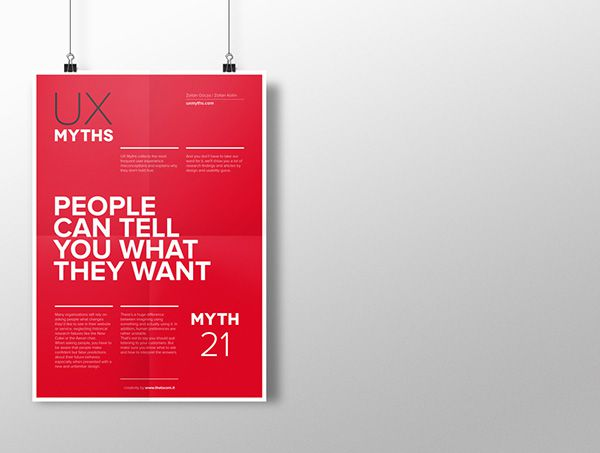 Myth 21: People can tell you what they want