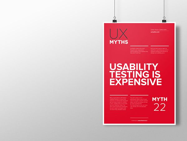 Myth 22: Usability testing is expensive
