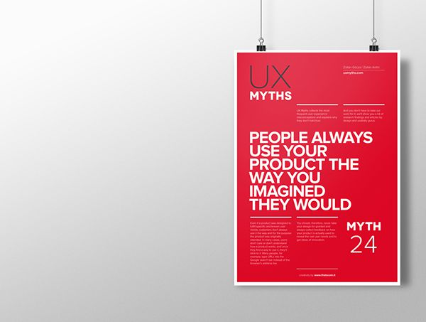 Myth 24: People always use your product the way you imagined they would