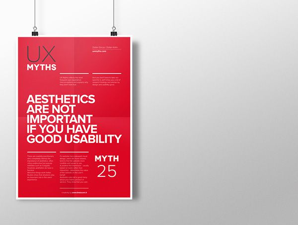 Myth 25: Aesthetics are not important if you have good usability