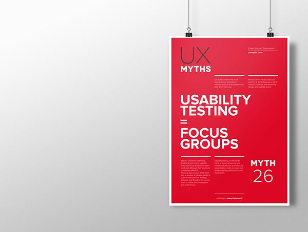 Myth 26: Usability testing = focus groups