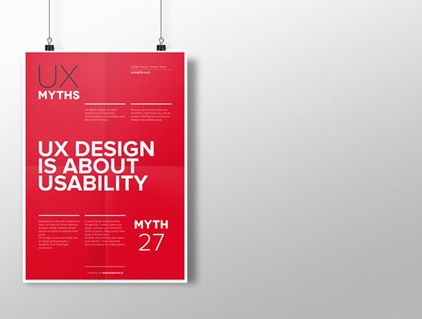 Myth 27: UX design is about usability